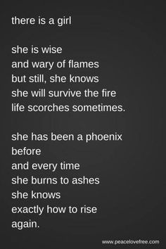 I will rise from the ashes