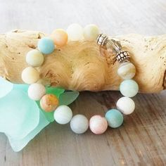 Check out this item in my Etsy shop https://www.etsy.com/listing/506963774/amazonite-beaded-bracelet-yoga-mala