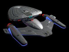 Star Trek ship USS Legacy Rear Quarter view by calamitySi Star Trek Online, Starfleet Ships, Starship Concept, Star Trek Images, Concept Ships, Concept Art, Star Trek Starships, Sci Fi Ships, Starship Enterprise