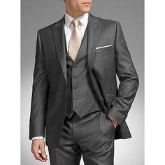 Buy Grey John Lewis Tailored Fit Wool Dress Suit Jacket, from our Formal Jackets range at John Lewis & Partners. Dark Grey Tuxedo, Grey Tuxedo Wedding, Dark Gray Suit, Plum Wedding, Black Suits, Wedding Groom, Mens Dark Grey Wedding Suits, Gray Suits, Wedding Black