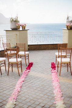 Ombre aisle petals: http://www.stylemepretty.com/2015/05/09/the-prettiest-ombre-wedding-details/