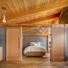 Image result for wood ceiling grey walls