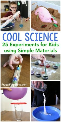 Cool Science Experiments for Kids - Frugal Fun For Boys and Girls Science Activities For Kids, Preschool Science, Science Projects, Toddler Activities, Learning Activities, Preschool Activities, Kids Learning, Science Education, Science Chemistry