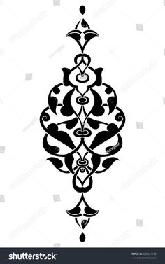 black and white antique Ottoman Turkish design pattern vecto.- black and white antique Ottoman Turkish design pattern vector – # black and white antique Ottoman Turkish design pattern vector – # - Islamic Art Pattern, Pattern Art, Pattern Design, Pattern Ideas, Vector Pattern, Stencil Templates, Stencil Designs, Islamic Calligraphy, Calligraphy Art
