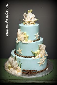 Ocean themed wedding cake by sandrascakes, via Flickr