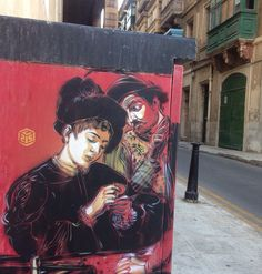 Caravaggio series by C215 in Malta (LP)