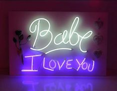 I love you babe! Neon Quotes, Love Quotes, Inspirational Quotes, Love You Babe, My Love, Neon Words, Facebook Cover Images, Give It To Me, Just For You
