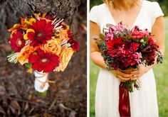 Картинки по запросу букет невесты красных оттенков