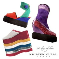 DAY 16 of 30 DAYS OF SHOES! JAN JANSEN: DODGEM BOOT (Purple) - Metallic leather