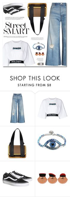"""Street Smart"" by defivirda ❤ liked on Polyvore featuring Rebecca Taylor, Palm Angels, Vans and Jo Malone"