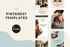 Promote your blog, website, freebies, lead magnets, content upgrades, and more with this set of 16 beautiful and professional PINTEREST post templates. Customize these templates with CANVA and start drive more traffic and clicks to your blog. $20 #sponsored #ad