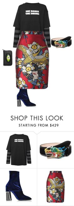 """""""running late 🏃🏾♀️"""" by arehispantstailored on Polyvore featuring Midnight Studios, Gucci, 3.1 Phillip Lim, Dsquared2 and Killstar"""