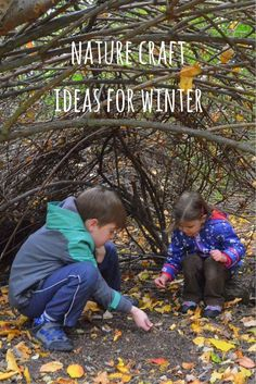 Nature craft is a perfect way to get kids outdoors in winter. Check out these ideas for winter nature crafts - they're all easy, fun and give great results!