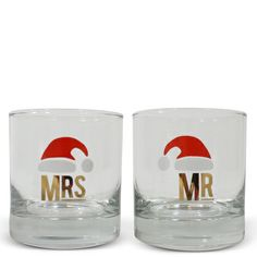 Mr. & Mrs. Holiday Glasses