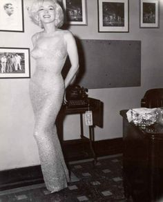 Marilyn on the night of J.F.K.'s birthday