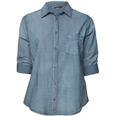 Belle Curve Chambray Shirt Target Australia ($7.51) ❤ liked on Polyvore featuring tops, blue long sleeve top, blue shirt, long-sleeve shirt, chambray top and long sleeve tops
