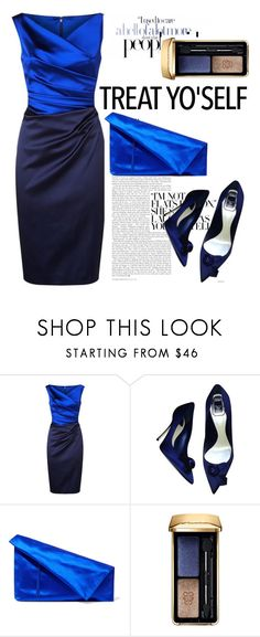 """""""Untitled #1015"""" by anilia ❤ liked on Polyvore featuring Talbot Runhof, Christian Dior, Diane Von Furstenberg, Guerlain and treatyoself"""