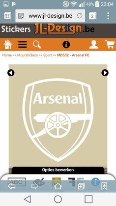 Muursticker Arsenal