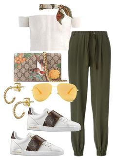 """""""Untitled"""" by whoiselle ❤ liked on Polyvore featuring RED Valentino, Gucci and Yves Saint Laurent"""