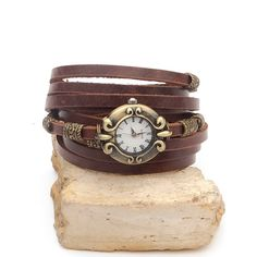 Hey, I found this really awesome Etsy listing at https://www.etsy.com/listing/162262693/leather-watch-for-women-antique-bronze