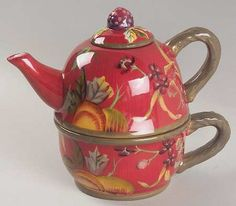 Your Favorite Brands Happy Mother's Day -  Just Her Cup of Tea Individual Teapot & Lid with Cup
