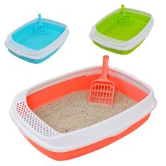 "Cat Bedpans Colors For Cats Dogs Toilet Training Bedpan Cat Litter Box Pet Products, Cat Toliet  Material : plastic  Object : Puppy and Kitten  Size : 46*34*11cm  Weight : 460g  Package includes:  1 x Pet bedpan   Fast ship and send with""FREE GIFT"" by thehotproducts.com.   Thanks"