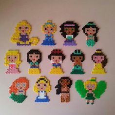 Disney Princess hama perler beads by troeffel