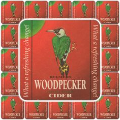 1 Woodpecker Cider Beer Mat (UK) / Coaster / Beermat - Mill's Breweriana & Collectables eBay Store