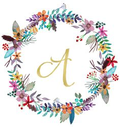 Beautiful free printable monogram art for your home-these would be so pretty in a nursery or gallery wall! Printable Alphabet Letters, Printable Art, Free Printables, Font Alphabet, Floral Printables, Image Deco, Baby Drawing, Floral Letters, Free Prints
