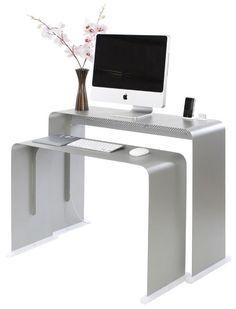 La société Heckler Design propose un bureau en aluminium spécialement conçu pour se marier à merveille avec le design de votre Mac. Le bureau composé de deux pièces permet de positionner jusqu&rsqu…