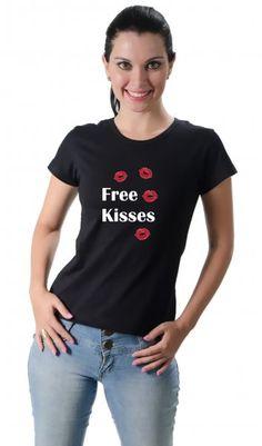 Camiseta Free Kisses por apenas R$37.91