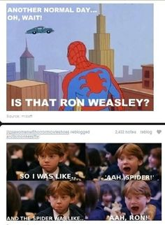 spiderman and ron weasley