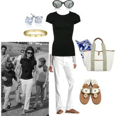"""Jackie O """"classic American style"""" Classic Fashion Looks, Classic Style Women, Estilo Jackie Kennedy, Travel Attire, How To Have Style, Classic Wardrobe, Mom Style, Prep Style, Simple Style"""