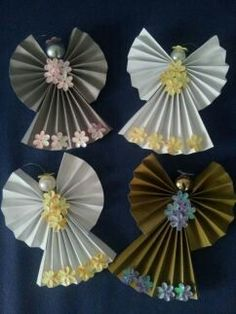63 Easy DIY Angel Christmas Ornaments Crafts Ideas - Craft and Home Ideas Angel Christmas Ornaments Crafts 17 Christmas Crafts To Sell, Christmas Ornament Crafts, Christmas Paper, Christmas Angels, Christmas Projects, Holiday Crafts, Crafts To Make, Crafts For Kids, Christmas Decorations