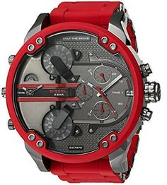 64fb51b6cfe Diesel Men s Mega Chief Quartz Stainless Steel and Silicone Chronograph  Watch ( DZ4476) Gravata