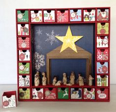 Advent calendar for classroomproject or Christmas room.  (Kaisercraft Advent Calendar)
