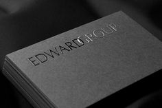 Gray Business Cards   RockDesign Luxury Business Card Printing
