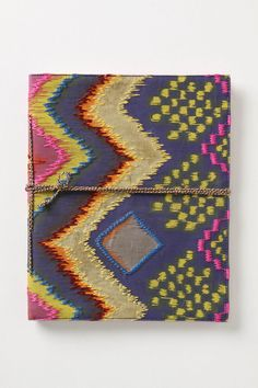 Ikat. love this. i always have 2-3 notebooks in my purse for notes, lists, inspiration