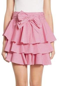 Scripted Gingham Tiered Ruffled Mini Skirt. Mini skirt fashions. I'm an affiliate marketer. When you click on a link or buy from the retailer, I earn a commission.