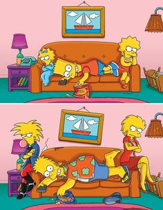 What The Simpsons Can Teach Us About Siblings ,,,Illustrations by Julius Preite