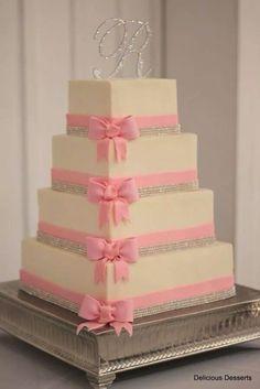 Pink now wedding cake. So pretty!