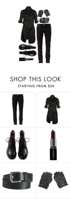 """""""Untitled #295"""" by goth-proxy ❤ liked on Polyvore featuring BLK DNM, Vivienne Westwood Red Label, Smashbox, Pieces, goth, androgynous, spooky, androgyny and gothgoth"""