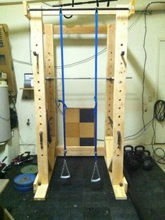 DIY Power Rack  Sigh... to have more than just dumbbells and a cooler