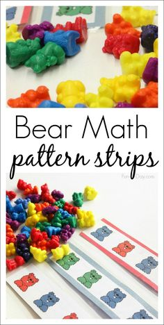 Bear Math Patterns for Preschool and Kindergarten - hands-on free math printable for learning patterns