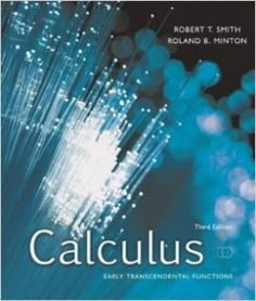 Textbook Solutions Manual for Calculus Early Transcendental Functions 3rd Edition Smith INSTANT DOWNLOAD