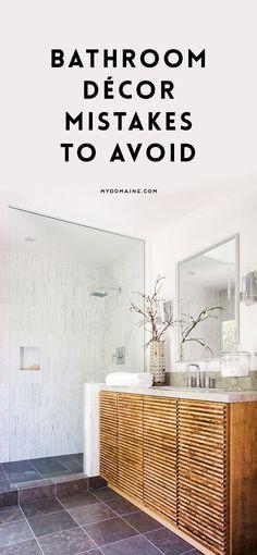 Don't make this bathroom décor mistakes