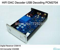 HIFI DAC Decoder USB Decoding PCM2704 Digital Receiver CS8416 DA Converter CS4398 24BIT/192K Hz $79.00