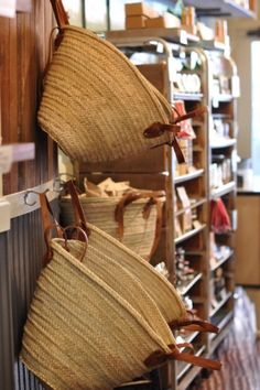 French market bags ...but also a good look for home made rag baskets