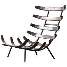 Rare jacaranda lounge chair. Designed by Carlo Hauner and Martin Eisler for Forma, Brazil, circa 1955