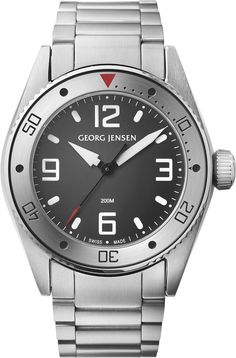 Georg Jensen Watch Delta Dive Pre-Order #basel-15 #bezel-unidirectional #case-depth-13-5mm #case-material-steel #case-width-42mm #delivery-timescale-call-us #dial-colour-grey #gender-mens #luxury #movement-quartz-battery #packaging-georg-jensen-watch-packaging #pre-order #pre-order-date-30-09-2015 #preorder-september #style-divers #subcat-delta #supplier-model-no-3575603 #warranty-georg-jensen-official-2-year-guarantee #water-resistant-200m